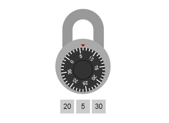 Combination Lock file preview